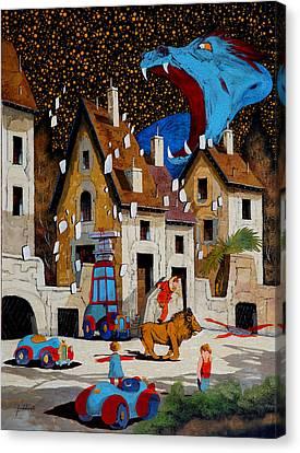 Il Drago Canvas Print by Guido Borelli