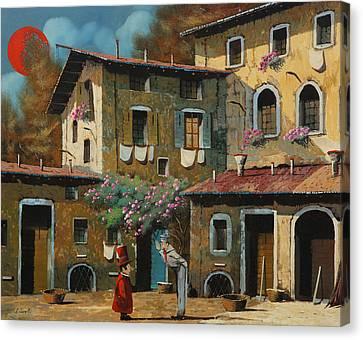 Il Notaio E Il Marinaio Canvas Print by Guido Borelli