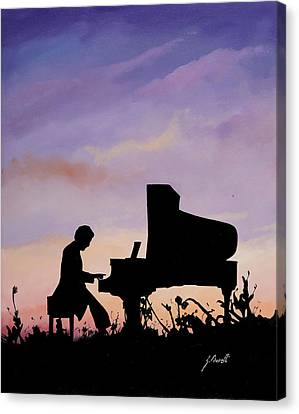 Piano Canvas Print - Il Pianista by Guido Borelli