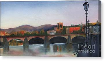 Il Ponte Santa Trinita Canvas Print by Leah Wiedemer