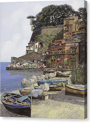 il porto di Sorrento Canvas Print by Guido Borelli