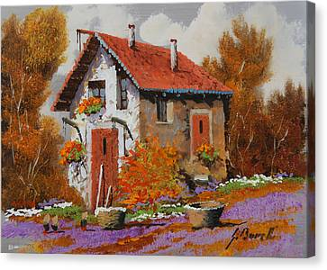 Il Prato Viola Canvas Print by Guido Borelli