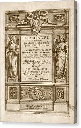 'il Saggiatore' (1623) Canvas Print by Library Of Congress