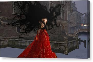 Il Vampiro Contessa Di Venezia Canvas Print