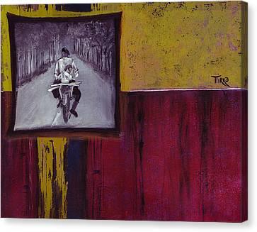 Il Y A 50ans... Sur Une Route De France Canvas Print by Mirko Gallery