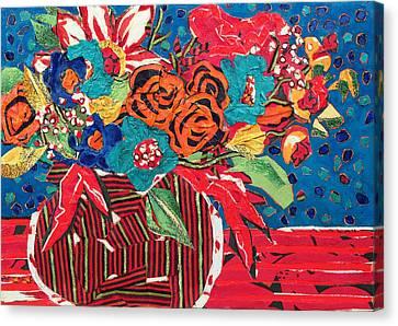 Ilana's Flower Arangement Canvas Print by Diane Fine