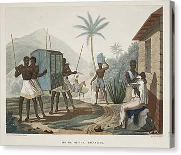 Ile De France Palanquin Canvas Print by British Library