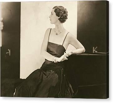 Ilka Chase In A Taffeta Dress Canvas Print