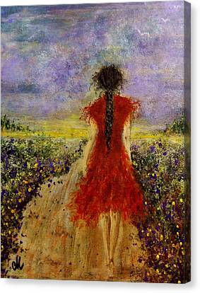 Canvas Print featuring the painting I'll Be There... by Cristina Mihailescu