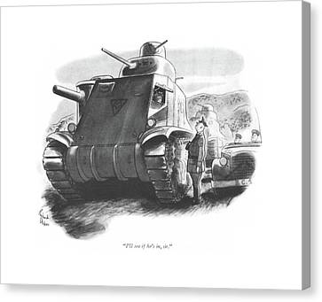Armor Canvas Print - I'll See If He's by Richard Decker