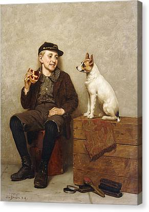 Ill Share With You Canvas Print by John George Brown