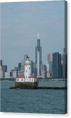 Illinois, Chicago, Lake Michigan Canvas Print by Cindy Miller Hopkins