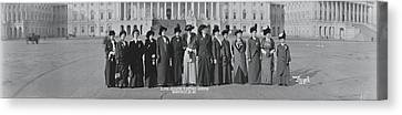 Matron Canvas Print - Illinois Delegation To Suffrage by Fred Schutz Collection