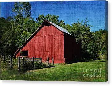 Illinois Red Barn 2 Canvas Print