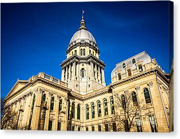 Illinois State Capitol Building In Springfield Canvas Print by Paul Velgos