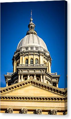 Illinois State Capitol Dome In Springfield Illinois Canvas Print by Paul Velgos