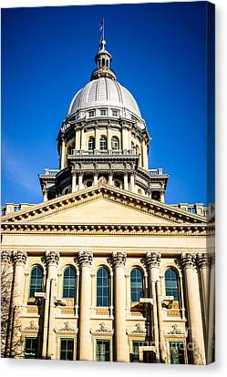Illinois State Capitol In Springfield Canvas Print by Paul Velgos