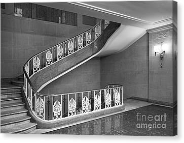 Illinois State University Williams Hall Stairway Canvas Print by University Icons