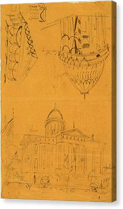 Bunting Canvas Print - Illinois Statehouse, Springfield, Ill, With Details Showing by Quint Lox