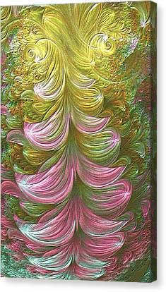 Canvas Print featuring the digital art Illumination by Lea Wiggins