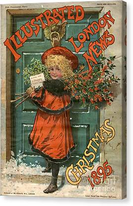 Illustrated London News 1890s Uk Holly Canvas Print by The Advertising Archives