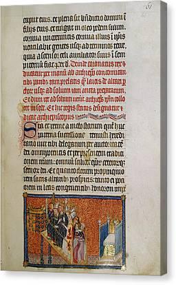 Illustrated Page Of 'codex Membran' Manus Canvas Print