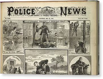 Illustrated Police News Front Page Canvas Print by British Library