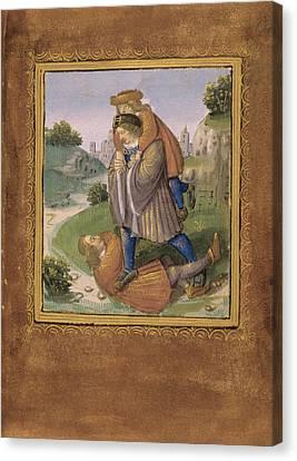 Illustrating A Proverb Canvas Print