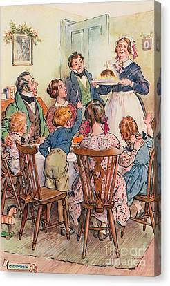 Spirits Canvas Print - Illustration For A Christmas Carol by Charles Edmund Brock