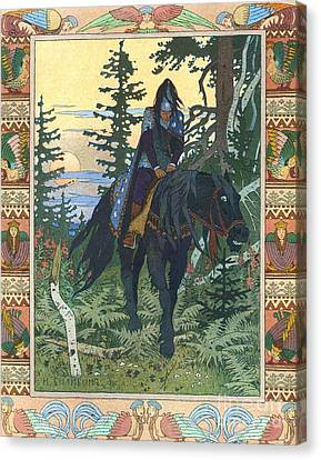 Illustration For Vasilisa The Beautiful Canvas Print by Pg Reproductions
