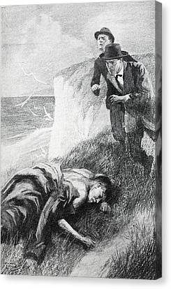 Coastal Canvas Print - Illustration From The Adventure by Howard K. Elcock