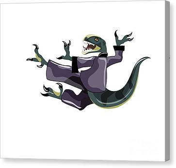 Illustration Of A Raptor Performing Canvas Print by Stocktrek Images