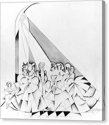 Wife Canvas Print - Illustration Of A Wedding Ceremony by John Barbour