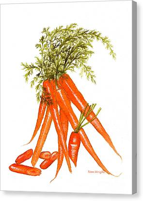 Illustration Of Carrots Canvas Print