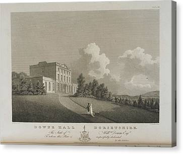 Illustration Of Downe Hall Canvas Print by British Library