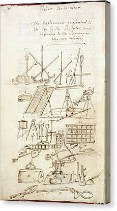 Illustration Of Garden Tools Canvas Print by British Library