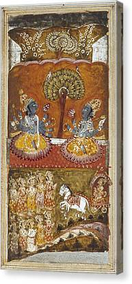 Illustration Of The Bhagavata Purana Canvas Print
