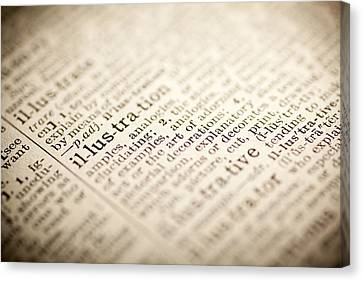Dictionary Canvas Print - Illustration by Samuel Whitton