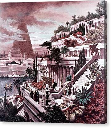 Iraq Canvas Print - Illustration Seven Wonders by Vintage Images
