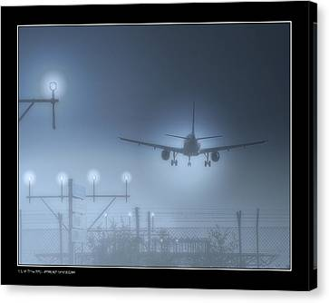 Canvas Print featuring the photograph Ils Landing by Pedro L Gili