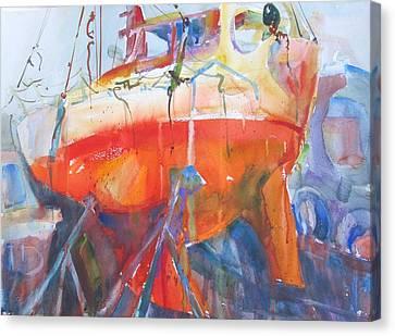 Ilwaco Orange Canvas Print