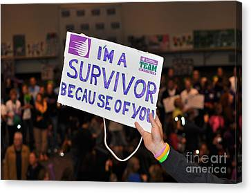 Canvas Print featuring the photograph I'm A Survivor Because Of You by Debby Pueschel