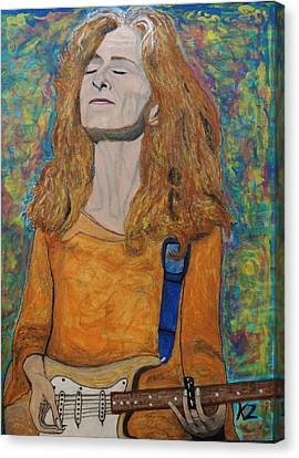 Canvas Print featuring the painting I'm In The Mood For Bonnie Raitt. by Ken Zabel