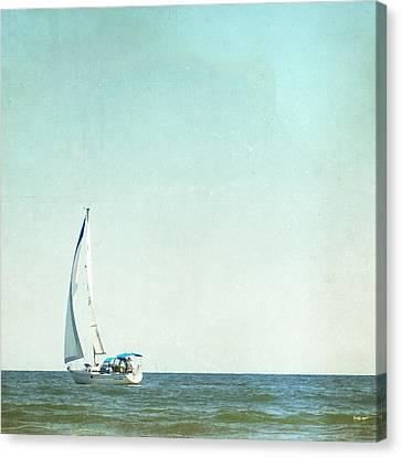 I'm Sailing Away Canvas Print by Carolyn Cochrane