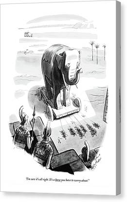 I'm Sure It's All Right. It's A Horse Canvas Print by Richard Decker