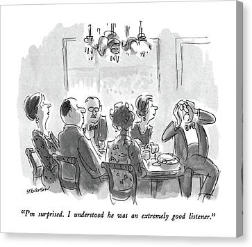 The Dinner Party Canvas Prints Fine Art America