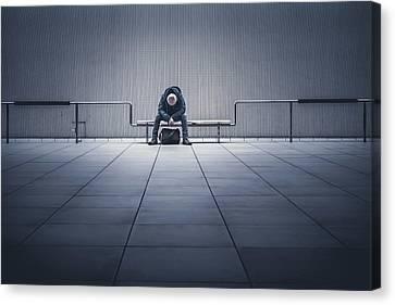 Sorrow Canvas Print - I'm Tired. by Yasuhiko Yarimizu