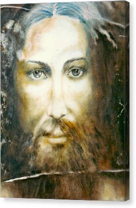 Image Of Christ Canvas Print by Henryk Gorecki