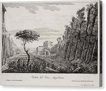 Image Of Italian Countryside Around Rome. Canvas Print by British Library