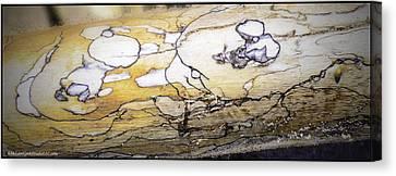 Tying Shoe Canvas Print - Images In Drift Wood by LeeAnn McLaneGoetz McLaneGoetzStudioLLCcom